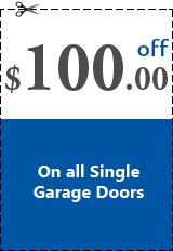 Get $100 Off On All Single Garage Doors