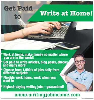 Well-paid freelance writing jobs available