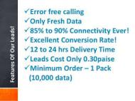 FRESH LEADS AVAILABLE (CALLING DATA)