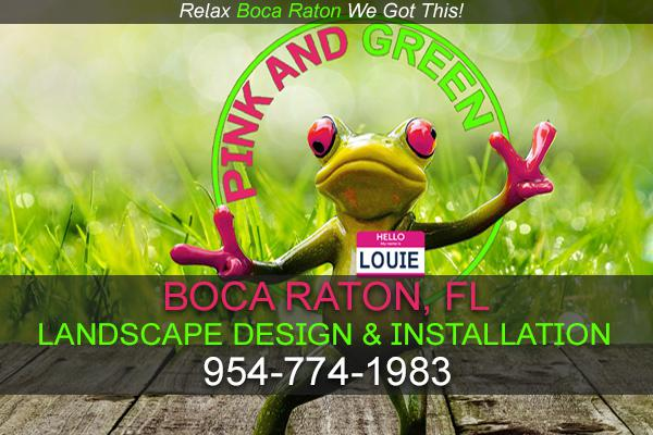 Pink and Green Lawn Care and Landscape